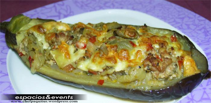Berenjenas rellenas de carne al horno chef paquitus - Berenjenas rellenas al horno ...